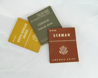 Vintage War Department Foreign Language Phrase Booklets 1940s 1950s United States War Department