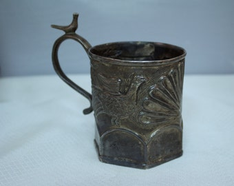 Civil War Period, Mid 1800's American Silver-plated Cup