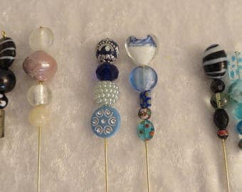"""VICTORIAN STYLE HANDMADE Hatpins 8"""" Long Your Choice Two for One Price Reenactment Civil War Steampunk Edwardian"""