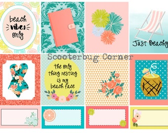 Beachy Keen Planner Sticker Set for Erin Condren, Happy Planner, Traveler's Notebooks and More