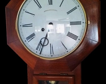 Henry E. Frett/ Marshall Field & Co. Regulator Wall Clock Late 20th Century