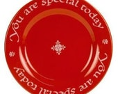 Original Red Plate You Are Special Today Germany