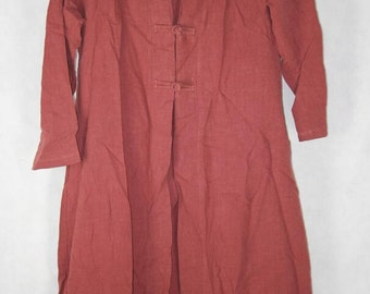Women Loose fitting spring Windbreaker Coat brick red long large size Windbreaker