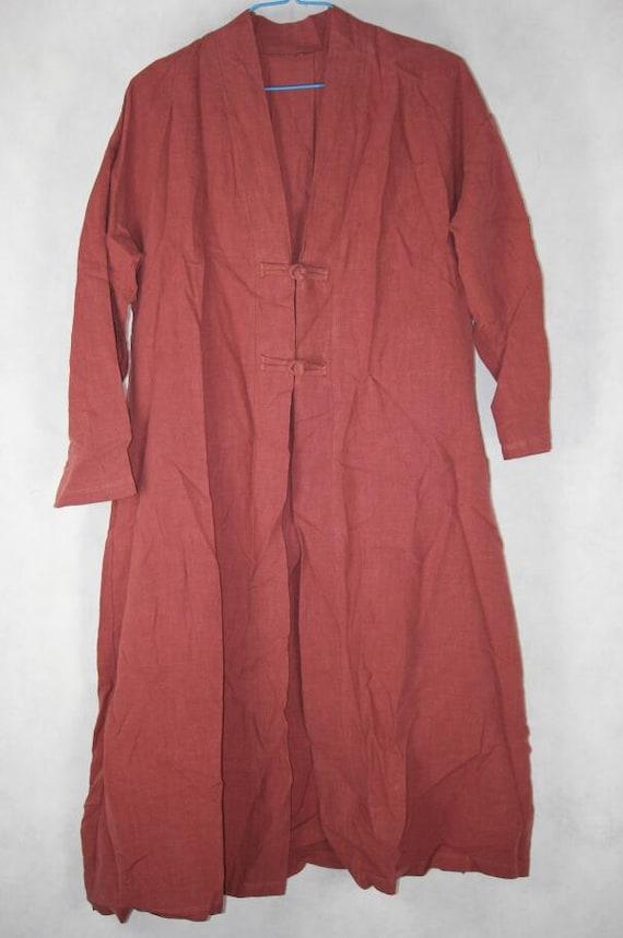 Women Loose fitting spring Windbreaker Coat brick red long large size Windbreaker