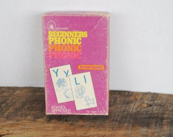 Vintage Beginners Phonic Flash Cards by Edu-Cards