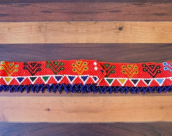 Vintage Heavy Beaded Native American Style Belt Size Small