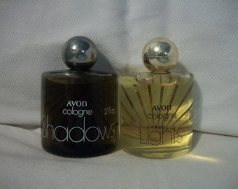 Vintage Avon Shadows And Lights Cologne Set Of 2
