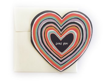 Love You Heart Greeting Card