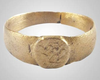 Authentic Medieval  Ring C.13th-15th Century Size 10   (19.9mm)(BRR1120)
