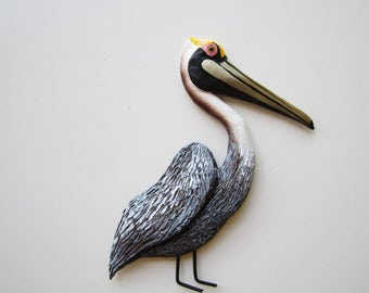Pelican art wall decor