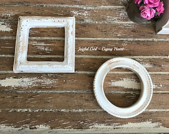 Dollhouse Miniature 1:12 Empty Resin Frames Shabby Chic Country