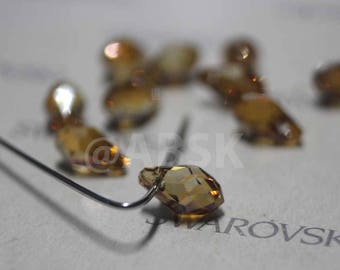 Chose Size and Quantity - Swarovski Elements Crystal Pendants 6007 7mm and 9mm Small Briolette COPPER