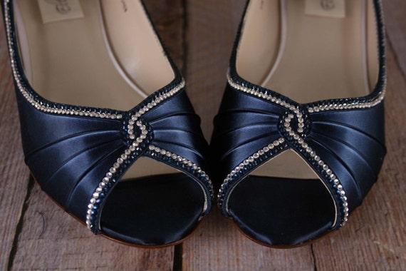 Navy Blue Wedding Shoes Wedges Wedge Wedding Shoes