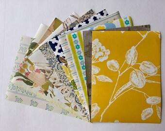 "Eclectic floral: 1960s Vintage wallpaper collage/scrapbook sample pack (10 sheets, 8.5x11.5"")"