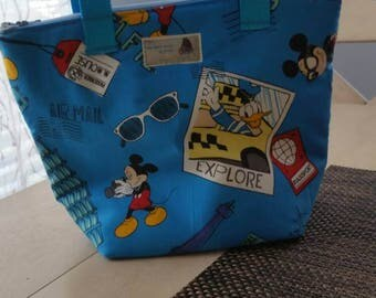 Blue Mickey Mouse Lunch Bag