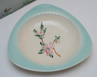 Shorter and Sons Triangular Platter with Floral Motif