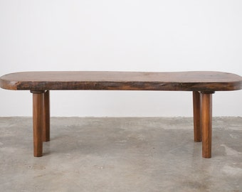 Mid Century Live Edge Coffee Table