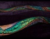 hand made didgeridoo, beautiful colors