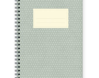 Notebook A5 - Little Turquoise Polka Dots Pattern