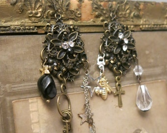 Assemblage earrings