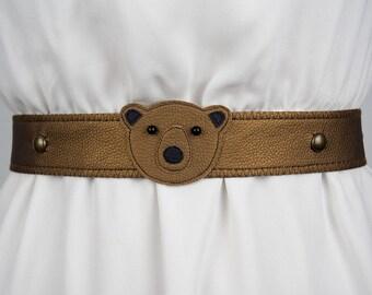Bear Belt (Metallic) ~ Handmade ~ Only 1 Left!