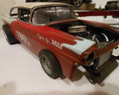 Scale Model Car, Ford Rat Rod,Classicwrecks,Rusted Wreck,Abandoned Race Car