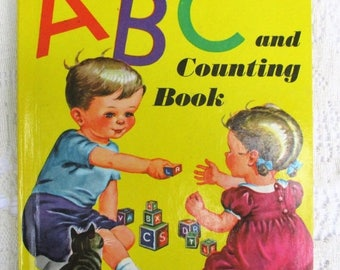 Spring SALE 20% OFF Vintage ABC and Counting Book~1946 Rare Collectible Children's Book by Wonder Books