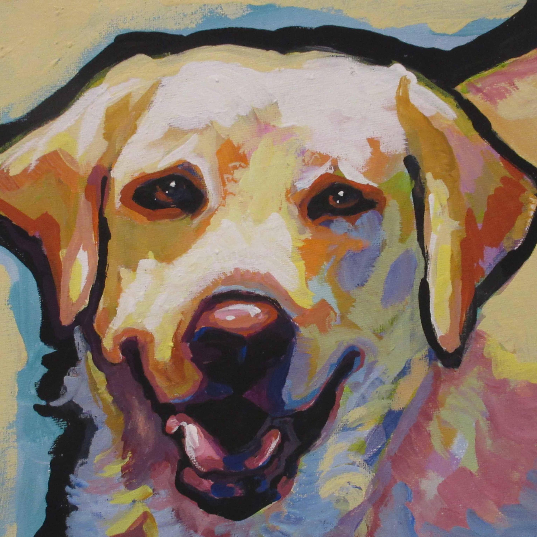 Labrador Retriever modern Dog art print of YELLOW LAB pop art