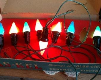 Vintage christmas lights | Etsy