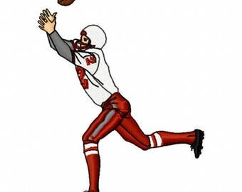 Football Player Machine Embroidery Design - Instant Download