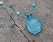 Gift for Women, Blue necklace for Girlfriend, Crystal aqua jewelry for her, FREE SHIPPING, Healing crystal and stone Delicate summer jewelry
