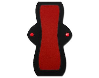 "Reusable Feminine Pad (10"" Heavy - Red Jersey)"