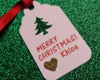 Christmas Tags Favor Tags or Gift tags Personalized
