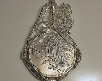 Indonesia Antique Coin Pendant 1971