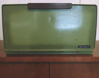 Vintage green breadbox