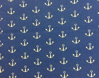 Anchors Away! (Navy)  - By The Yard