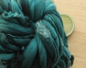 RESERVED Mint Trio - Thick and Thin Handspun Merino Wool Yarn with Curls