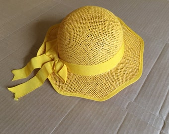 Straw Hat Maize Color ribbon