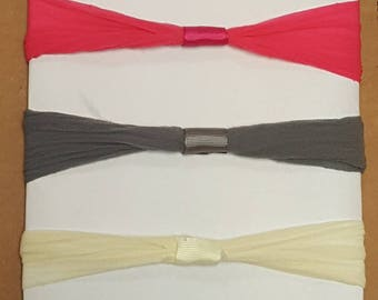 """NYLON Elastic Stretch Headbands 2.5"""" WHOLESALE Headband Lavender Hot PInk Pink Frey Brown Ivory Interchangeable Stretch Hedbands"""