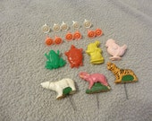 Cake Toppers Vintage Birthday Decorations, Candle Holders, Animals
