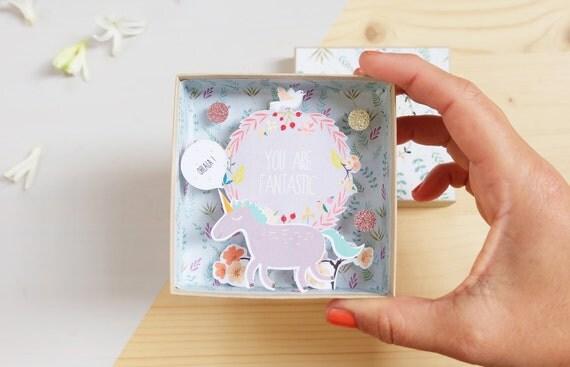 You are fantastic big message box  / Miniature Art / Diorama / 3d Art / Decorative Matchbox / Miniature paper diorama / Friend message