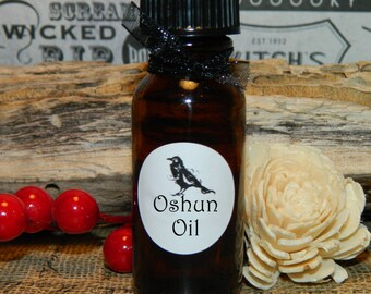 OSHUN OIL  .5 (1/2 oz)  - Anointing oil, Pagan, Wiccan