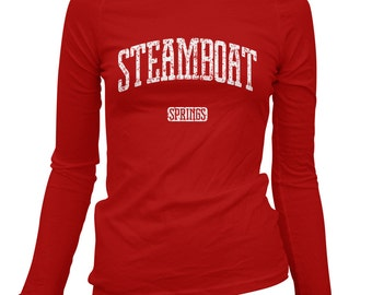 Women's Steamboat Springs Colorado Long Sleeve Tee - S M L XL 2x - Ladies' T-shirt, Gift For Her, Steamboat Springs Shirt, Ski, Snowboarding