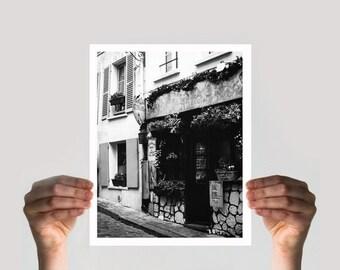 ON SALE Paris Decor, Fine Art Photography, Black and White Print, Paris Print, Antique Alley, Film Photography, Limited Edition Print, Wall