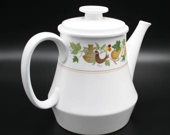 "Noritake Progression China, Japan, ""Homecoming"" Pattern 5 Cup Teapot & Lid, 1966-1979, Excellent"