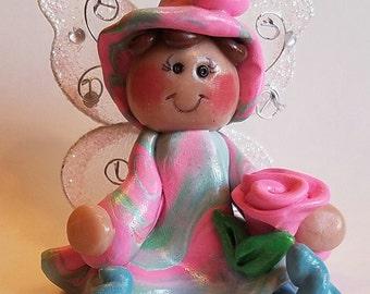 Polymer clay fair,  Polymer Clay Fairy, Clay Fairy, Fairy Garden Accessory , Miniature Fairy Garden ,Terrarium Accessories, Fairy Garden.