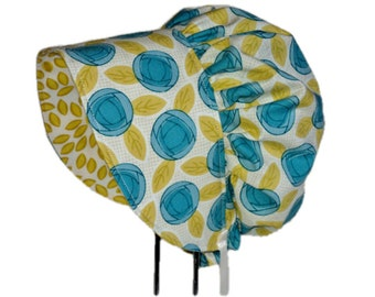 Baby Bonnet, Organic Bonnet, Baby Sun Hat, Baby Girl Bonnet, Baby Sunbonnet, Newborn Hat, Summer Bonnet, Toddler Hat, Cotton, Vintage Style