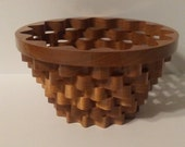 Large Cherry Bowl, Scrolled Wobble Basket