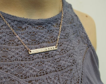"""Custom """"Love"""" Necklace - Gold or Silver - Personalize"""