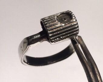 New York Fat Cap Spray Silver Midi Ring
